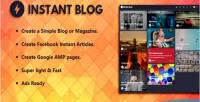 Blog instant facebook instant google articles amp script php supported