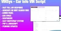 Bootstrap vinsys car script vin info