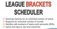 Brackets league scheduler