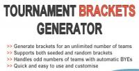 Brackets tournament generator