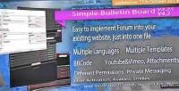 Bulletin simple board