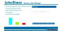 Business letterdimen letter manager