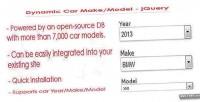 Car dynamic jquery model make