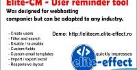 Cm elite tool reminder user