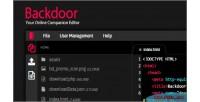 Code backdoor editor