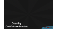 Codetoname country function