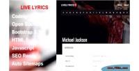 Complete livelyrics solution website lyrics for