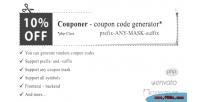 Coupon couponer code generator