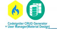 Crud codeigniter generator manager user design material