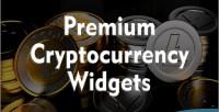 Cryptocurrency premium widgets php js