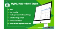 Data mysql export excel to