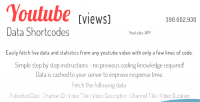 Data youtube api shortcodes cache & php plugin jquery and