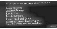 Database php session class