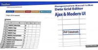 Php datasheets excel like editor grid data