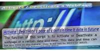 Deactivate activate a webpage