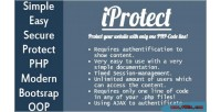 Display iprotect authentification after content