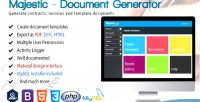 Document generator from template create custom invoices & contracts document
