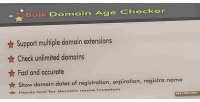 Domain bulk age checker