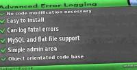Error advanced logging