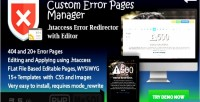 Error pages manager 404 & 20 error file redirector & editor error