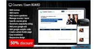 Exams courses board script