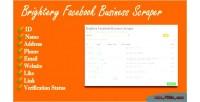 Facebook brightery business scraper