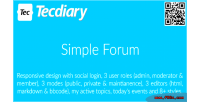 Forum simple board bulletin responsive