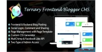 Frontend ternary blogger cms