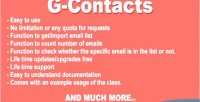 G contacts gmail contact class php importer