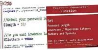 Generator password function