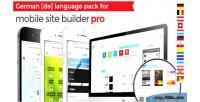German language for mobile pro builder site