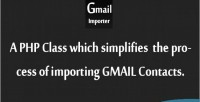 Gimporter php class for contacts gmail importing