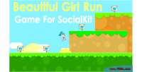 Girl beautiful run socialkit for game