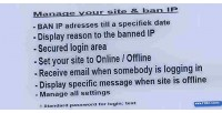 Ban ip till a date manage status site your