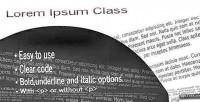 Ipsum lorem class