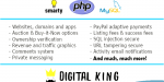 King digital website marketplace domain app and