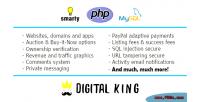King digital website marketplace domain app and