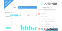 Laravel larry cms template dashboard admin
