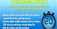 Live demo reset script that resets demo live a