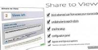 Content locker share link website unlock to