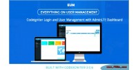 Login & user management adminlte using system login