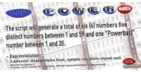 Lottery powerball number generator