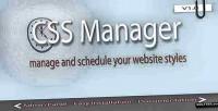 Manager css & scheduler