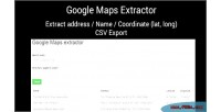Maps google extractor
