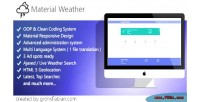 Material php weather