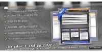 Mini simplece cms