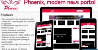Modern phoenix portal news minimalist