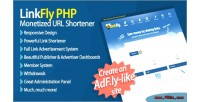 Monetized linkfly url shortener