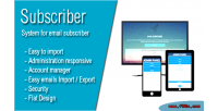 Most subscriber advanced newsletter mail e