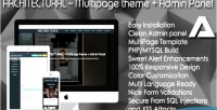 Multipage architectural panel admin theme